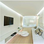 AUDIO AND VIDEO TECHNOLOGY IN WHITE INTERIOR